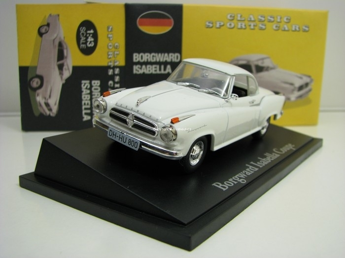 Borgward Isabella Coupe White 1:43 Atlas Edition