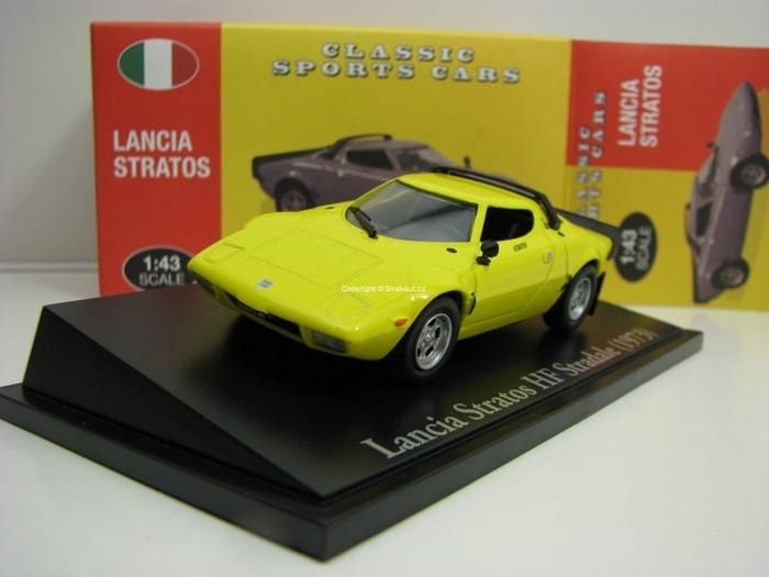 Lancia Stratos HF Stradale 1973 Yellow 1:43 Atlas Edition