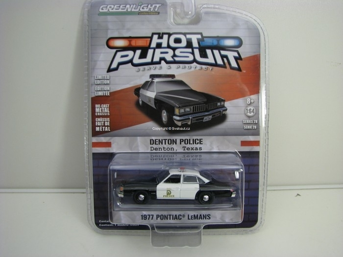 Pontiac LeMans 1977 Denton Texas 1:64 Hot Pursuit série 28 Greenlight