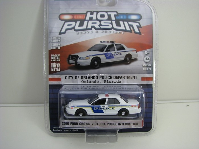 Ford Crown Victoria 2010 Police Interceptor Orlando 1:64 Hot Pursuit série 28 Greenlight
