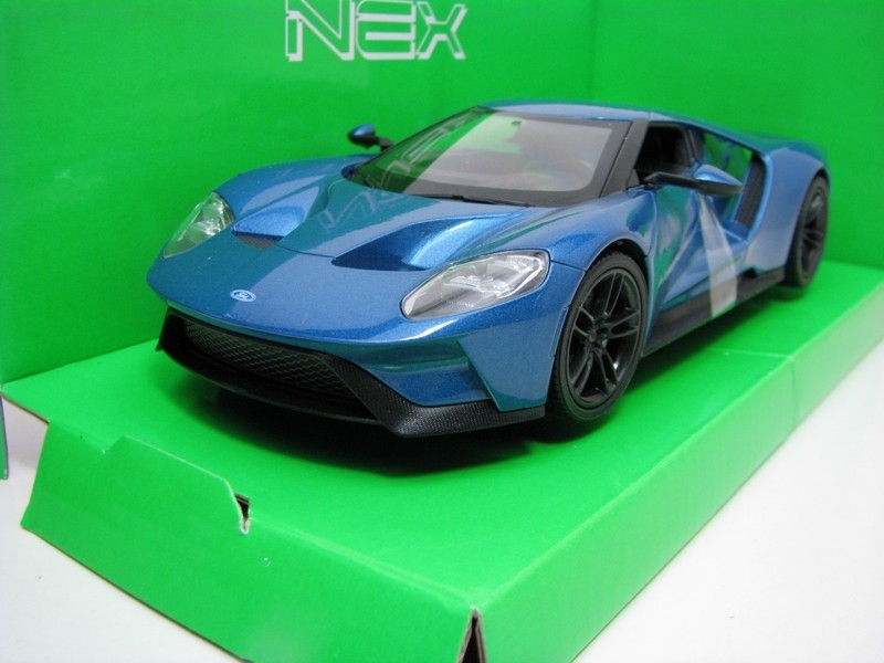 Ford GT 2017 Blue 1:24 Welly