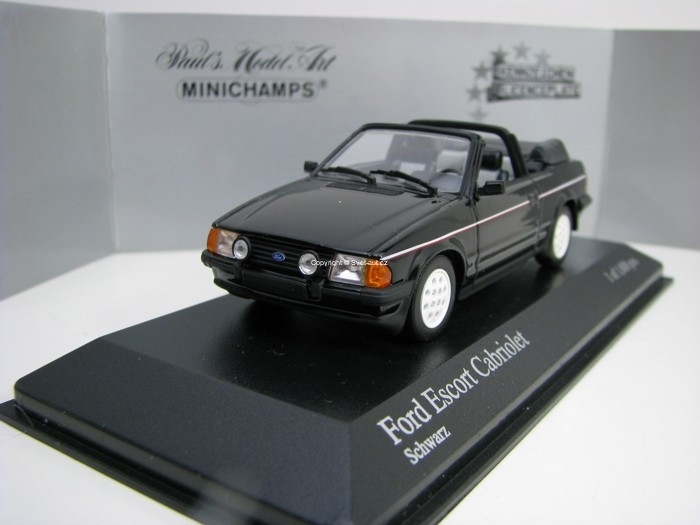 Ford Escort III Cabriolet 1983 Black 1:43 Minichamps