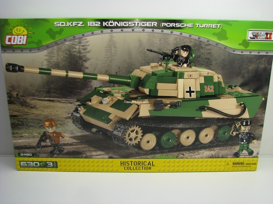 Cobi 2480 Tank Sd.Kfz. 182 Konigstiger Porsche Turret World War II Small Army