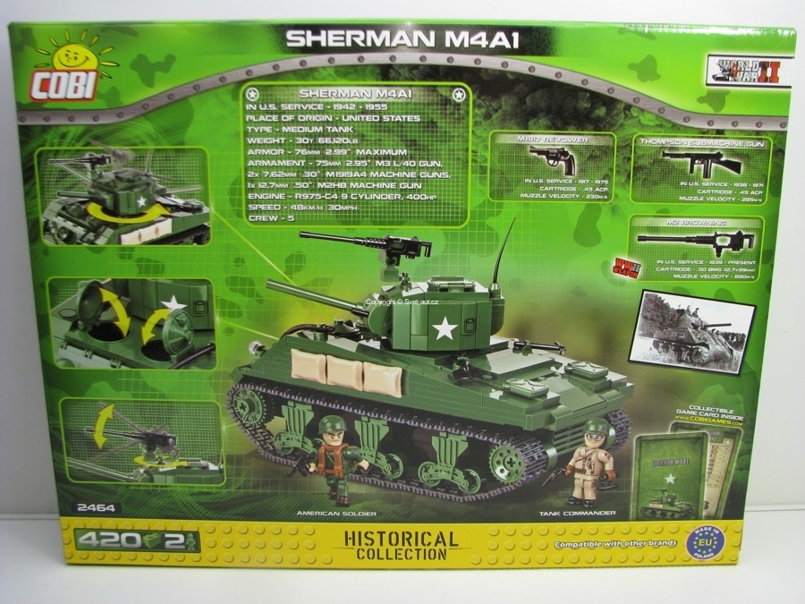 Cobi 2464 Tank Sherman M4AI World War II Small Army