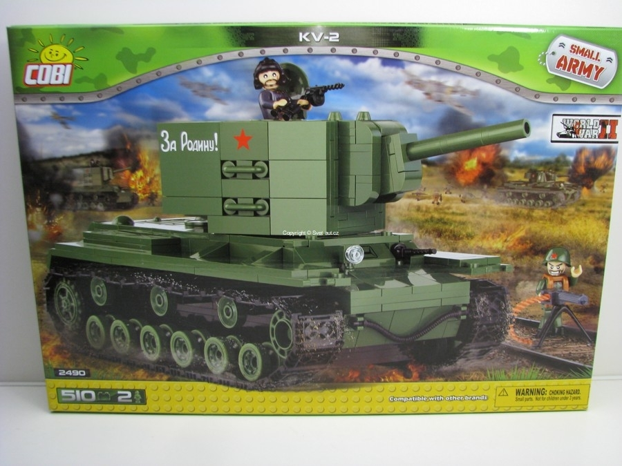 Cobi 2490 Těžký Tank Kliment Voroshilov KV-2 World War II Small Army