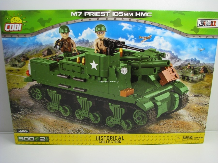 COBI 2386 Samohybné dělo M7 Priest 105 mm HMC World War II Small Army