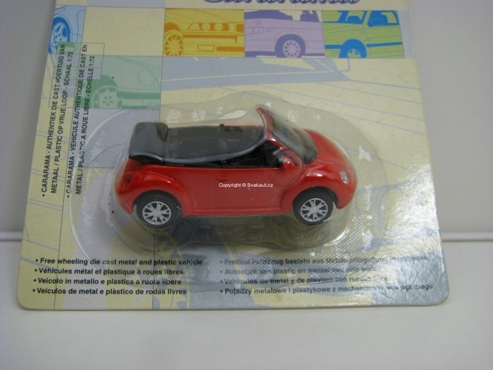 Volkswagen New Beetle Cabrio Red 1:72 Cararama Blistr