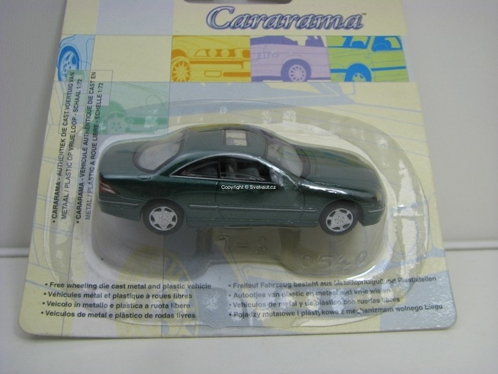 Mercedes-Benz CL 500 Coupé Green 1:72 Cararama Blistr