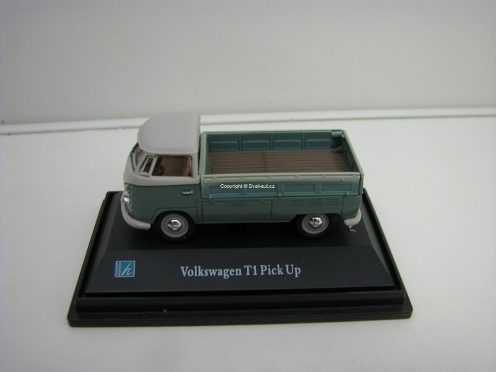 Volkswagen T1 Pick Up light Green 1:72 Cararama