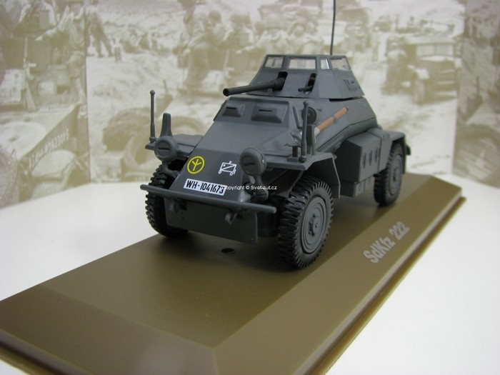 SdKfz 222 šedý 1:43 Atlas Edition