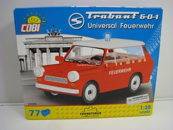 Cobi 24555 Trabant 601 Universal Feuerwehr stavebnice 1:35 Youngtimer collection