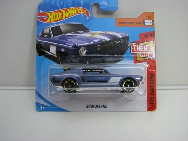 Mustang 1967 4/10 Then And Now Hotwheels 2018