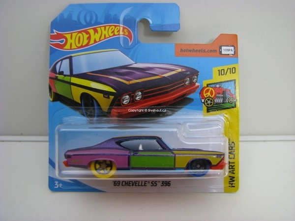 69 Chevelle SS 396 HW Art Cars Hotwheels 2018