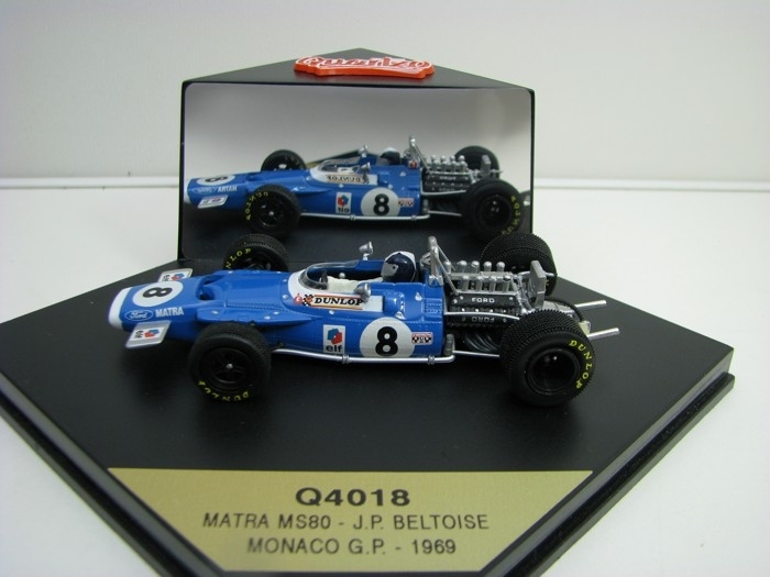 Matra MS80 No.8 Beltise Monaco G.P. 1969 1:43 Quartzo