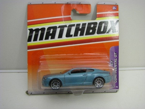 Bentley Continental GT Blue 1:64 Matchbox