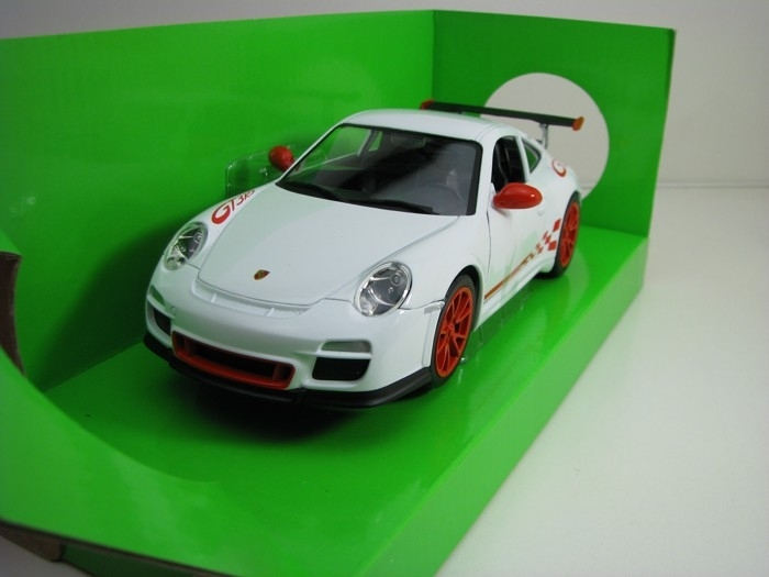 Porsche 911 GT3 RS 997 Mark 2 2010 White 1:24 Lucky Die Cast