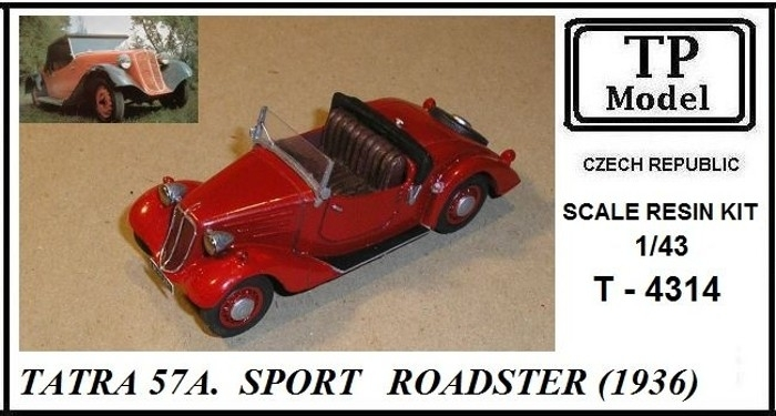 Tatra 57A Sport Roadster 1936 Resin kit 1:43 TP model