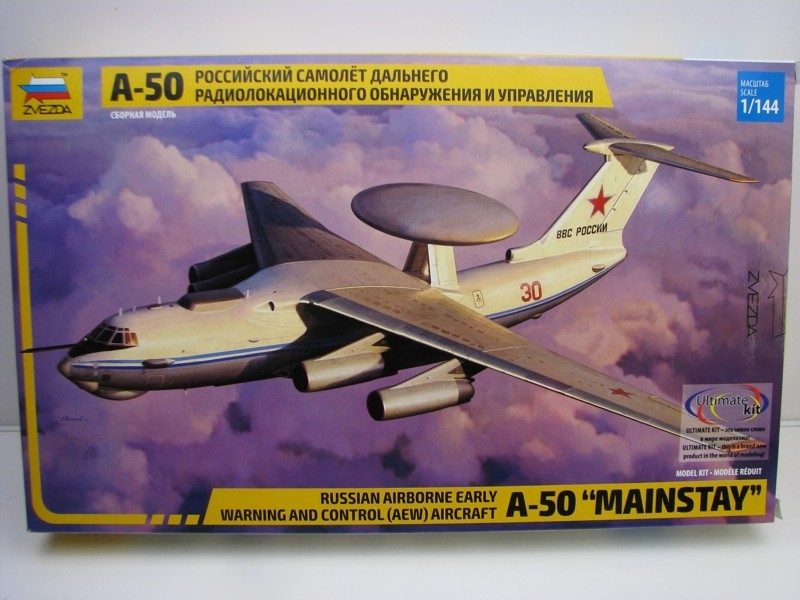 Letadlo A-50 Mainstay Russian Airborne early stavebnice 1:144 Zvezda 7024