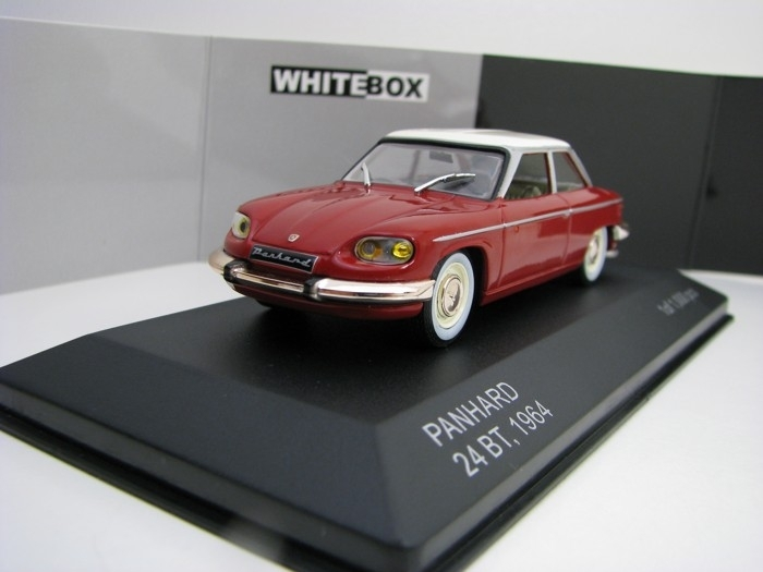 Panhard 24 BT 1964 Red/Beige 1:43 White Box