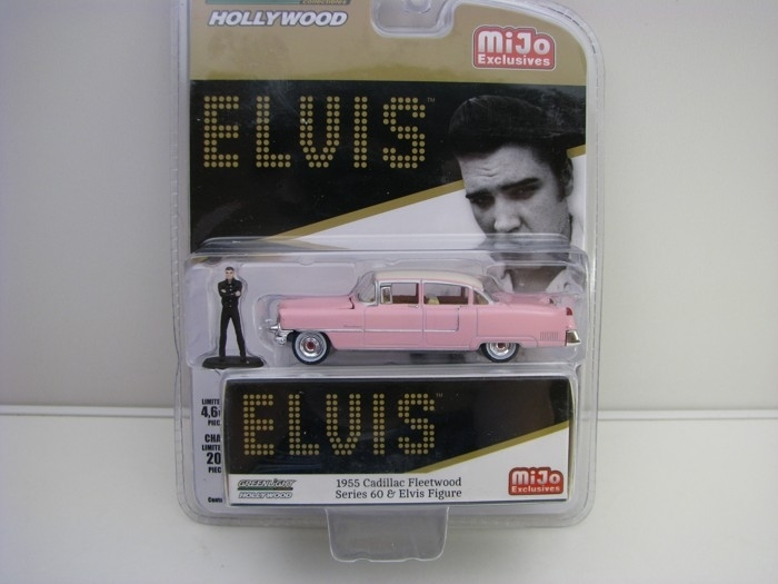 Cadillac Fleetwood series 60 1955 s figurkou Elvis 1:64 Greenlight Hollywood 51210