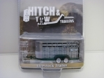 Přívěs na přepravu zvířat Livestock Trailer Grey 1:64 Hitch & Tow Greenlight 51213B