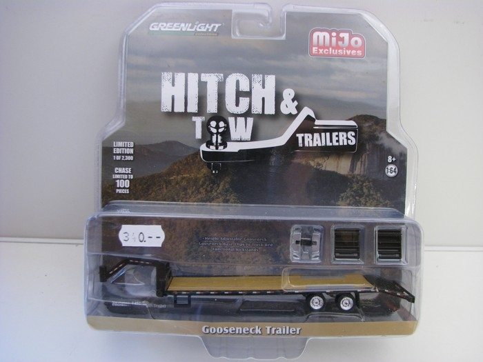 Přívěs Gooseneck Trailer Black 1:64 Hitch & Tow Greenlight 51215