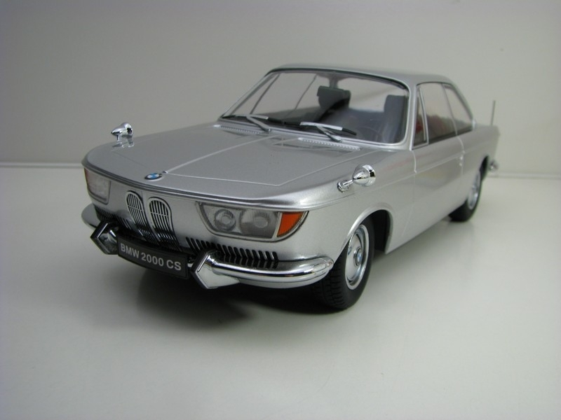BMW 2000 CS 1965 Silver 1:18 KK scale