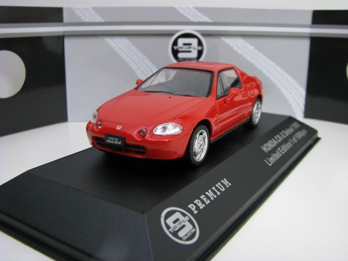 Honda CR-X Delsol 1992 Red 1:43 Triple 9 Collection T9P-10020
