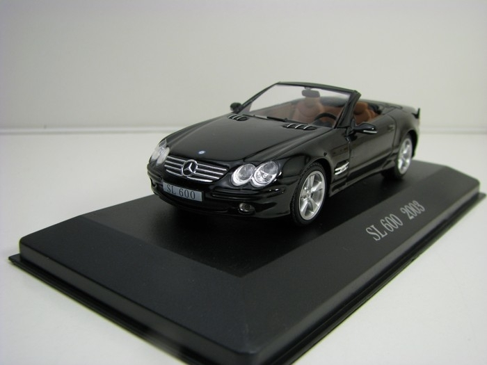 Mercedes-Benz SL 600 2003 Black 1:43 Atlas Edition