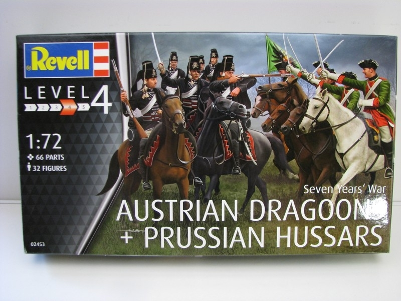Seven Years War Austrian Dragoon a Prussian Hussars stavebnice 1:72 Revell 02453