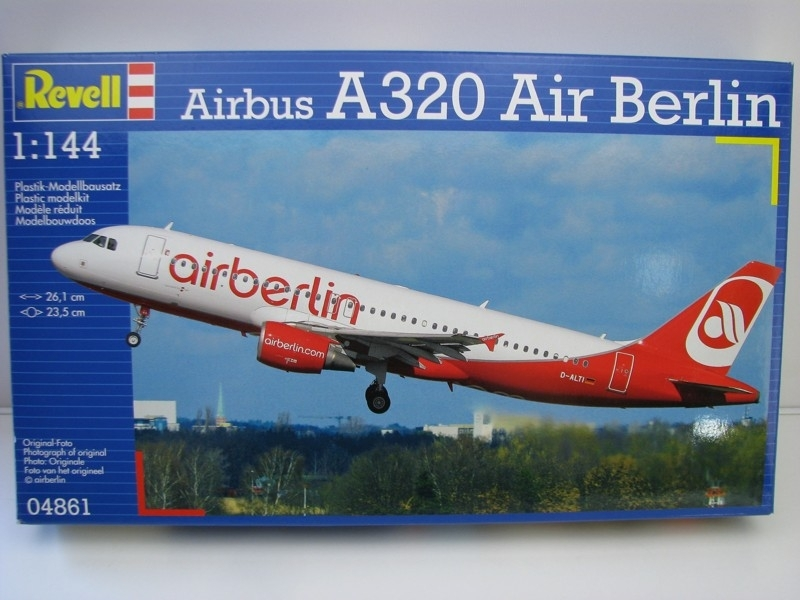 Airbus A320 Air Berlin stavebnice 1:144 Revell 04861