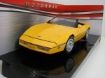 Chevrolet Corvette Convertible 1986 Yellow 1:24 Motor Max