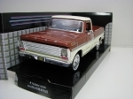 Ford F-100 Pick Up 1969 White Brown 1:24 Motor Max