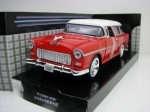 Chevrolet Bel Air Nomad 1955 Red 1:24 Motor Max