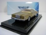 Lincoln Continental Mark V 1977 Gold 1:64 Neo Models