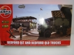 Bedford qlt and Bedford qld truck stavebnice 1:76 Airfix