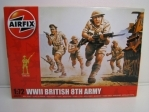 Figurky British Infantry 8TH Army stavebnice 1:72 Airfix A00709