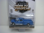 Chevrolet Silverado 3500HD 2018 Blue 1:64 Greenlight Dually Drivers