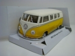 Volkswagen Classical Bus 1962 Yellow Pull Back Kinsmart Box