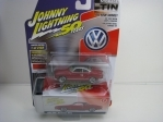 Volkswagen Karmann Ghia 1964 Apple Red with Storage Tin 1:64 Johny Lightning