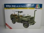 Jeep Willys with M2 Machine gun stavebnice 1:24 Italeri 6351