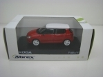 Škoda Fabia II Facelift RS Red / White 1:43 Abrex Junior