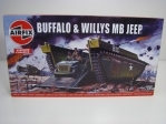 Buffalo a Willys MB Jeep stavebnice 1:76 Airfix