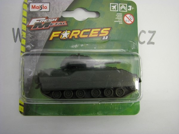 Military vehicle Fresh Metal Forces 3 Obrněný tank blistr 15168-1 Maisto