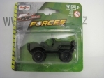 Military vehicle Fresh Metal Forces 3 Jeep bez střechy blistr 15168 Maisto