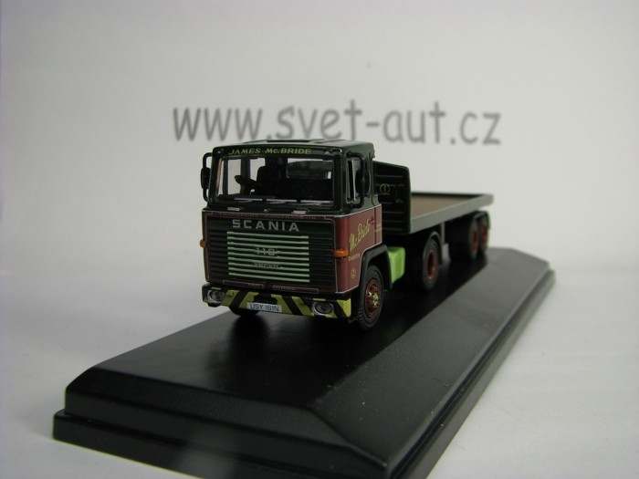 Scania 110 Flatbed Trailer James McBride 1:76 Oxford