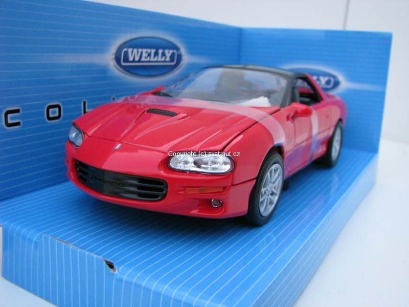 Chevrolet Camaro SS 2002 red 1:24 Welly