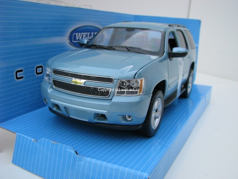 Chevrolet Tahoe 2008 blue 1:24 Welly