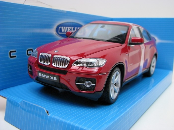 BMW X6 red 1:24 Welly