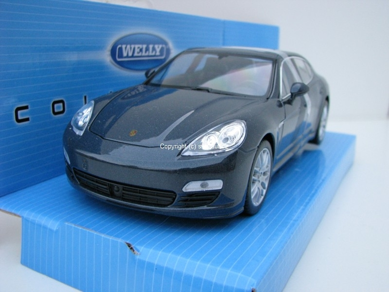 Porsche Panamera S Blue Grey 1:24 Welly